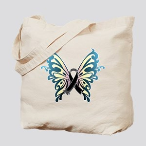 Skin Cancer Butterfly Tote Bag