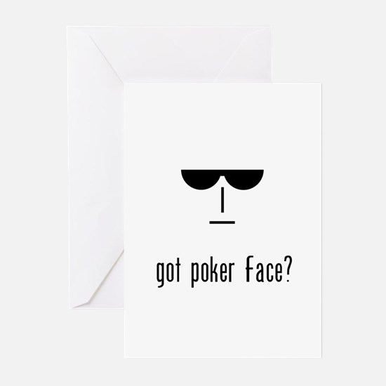 got poker face Greeting Cards (Pk of 10)