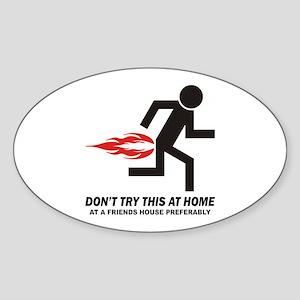 Home Oval Sticker