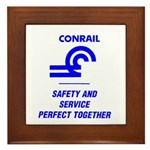 Conrail Safety & Service Framed Tile