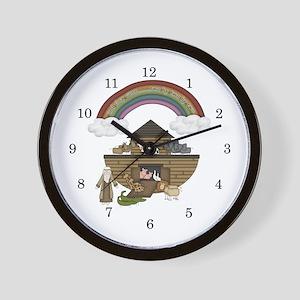Noah's Ark Kids Wall Clock