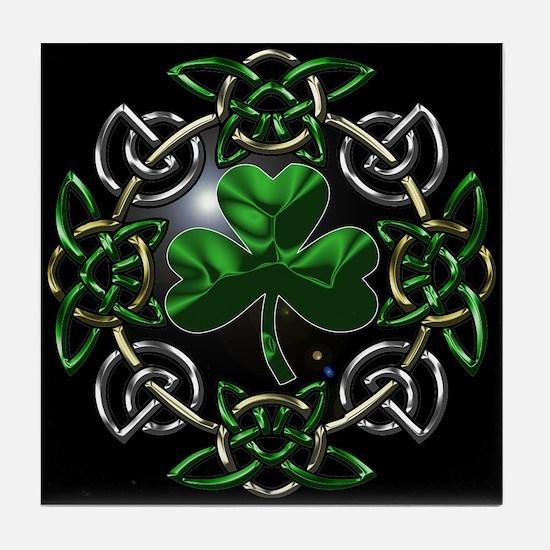 St. Patrick's Day Celtic Knot Tile Coaster