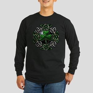 St. Patrick's Day Celtic Knot Long Sleeve Dark T-S