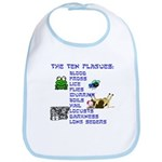 The Ten Plagues of Passover Bib