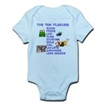 The Ten Plagues of Passover Infant Bodysuit