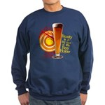 Beauty is in eye of Beer Holder funny sweatshirt