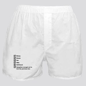 Check List For A Happy Life Boxer Shorts