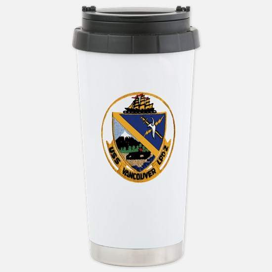 USS Vancouver LPD 2 Stainless Steel Travel Mug