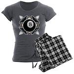8 Ball Deco Women's Charcoal Pajamas