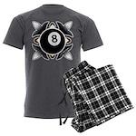 8 Ball Deco Men's Charcoal Pajamas