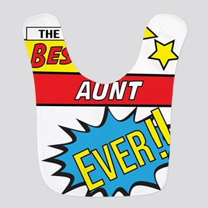 The best aunt ever pop art comi Polyester Baby Bib
