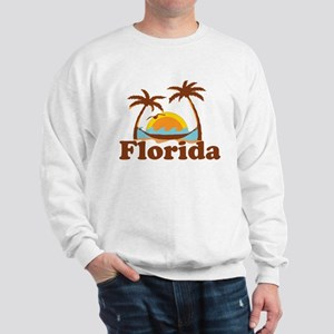 Florida - Palm Trees Design. Sweatshirt