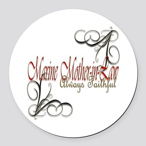 Swirl Mother-In-Law Round Car Magnet