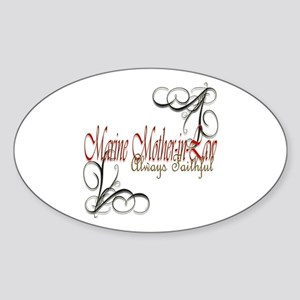 Swirl Mother-In-Law Sticker (oval)
