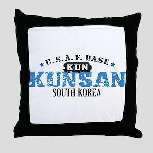 Kunsan Air Force Base Throw Pillow