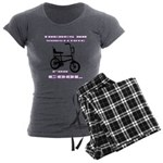 Chopper Bicycle Women's Charcoal Pajamas