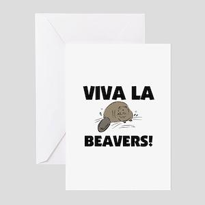 Viva La Beavers Greeting Cards (Pk of 10)