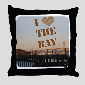 I Love The Bay! Throw Pillow