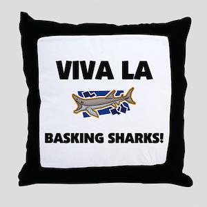 Viva La Basking Sharks Throw Pillow