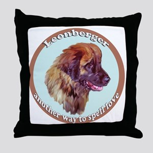 leonberger puppy love Throw Pillow