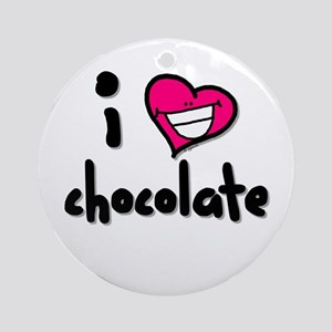 I Heart Chocolate Ornament (Round)