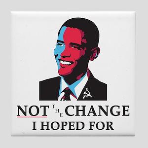 Obama Portrait Tile Coaster
