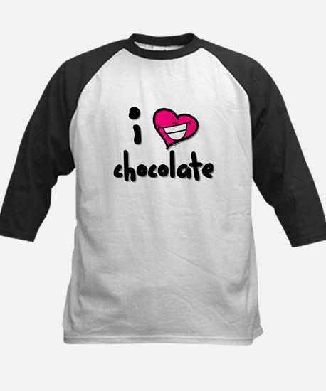 I Heart Chocolate Kids Baseball Jersey