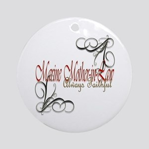 Swirl Mother-In-Law Round Ornament