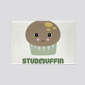 Super Cute Stud Muffin Rectangle Magnet