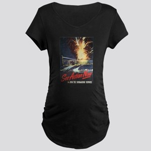 US Navy Submarine Maternity Dark T-Shirt
