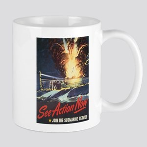 US Navy Submarine Mug