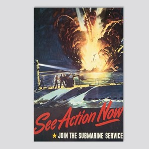 US Navy Submarine Postcards (Package of 8)