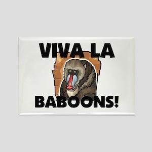 Viva La Baboons Rectangle Magnet