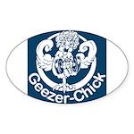 Geezer-Chick Oval Sticker (10 pk)