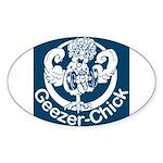Geezer-Chick Oval Sticker