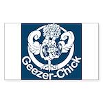 Geezer-Chick Rectangle Sticker
