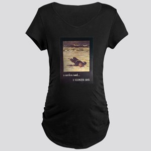 Navy WWII Poster Maternity Dark T-Shirt