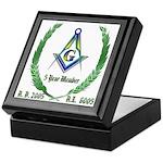 Masonic 5 Year Member Keepsake Box