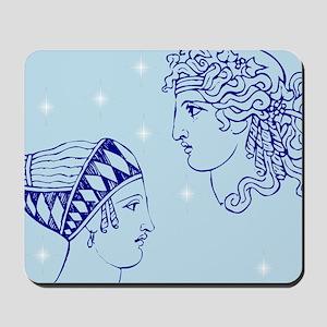 Greek Goddesses/Goddess (blue) Mousepad