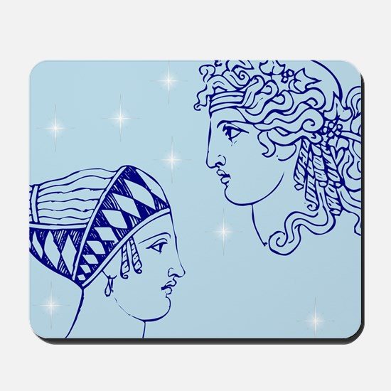 Greek Goddesses/Goddess (blue) Mousepad