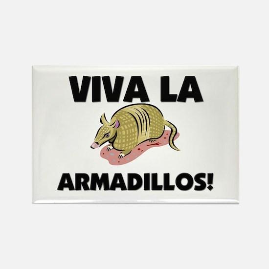 Viva La Armadillos Rectangle Magnet (10 pack)