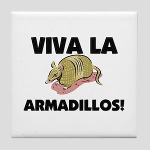 Viva La Armadillos Tile Coaster