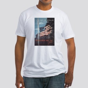Navy WWII Poster Fitted T-Shirt