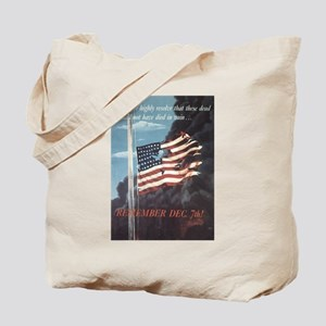 Navy WWII Poster Tote Bag
