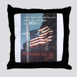 Navy WWII Poster Throw Pillow