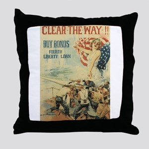 Navy WWI Poster Throw Pillow