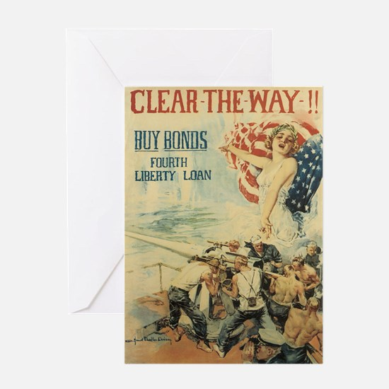 Navy WWI Poster Greeting Card