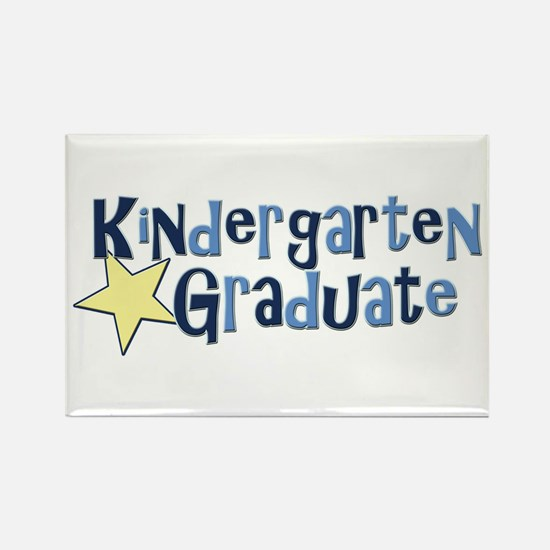 Boy Kindergarten Graduate Rectangle Magnet (100 pa