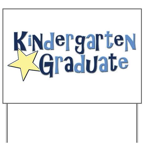 Boy Kindergarten Graduate Yard Sign