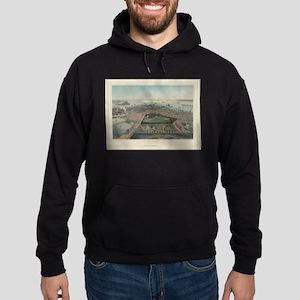 Vintage Pictorial Map of Boston MA (185 Sweatshirt